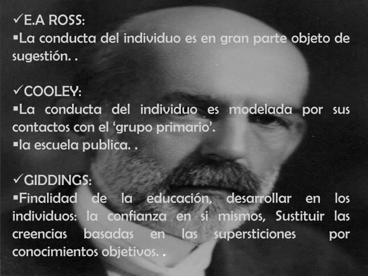 E.A ROSS:
