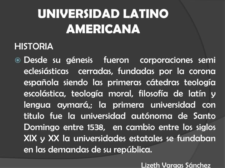 UNIVERSIDAD LATINO AMERICANA
