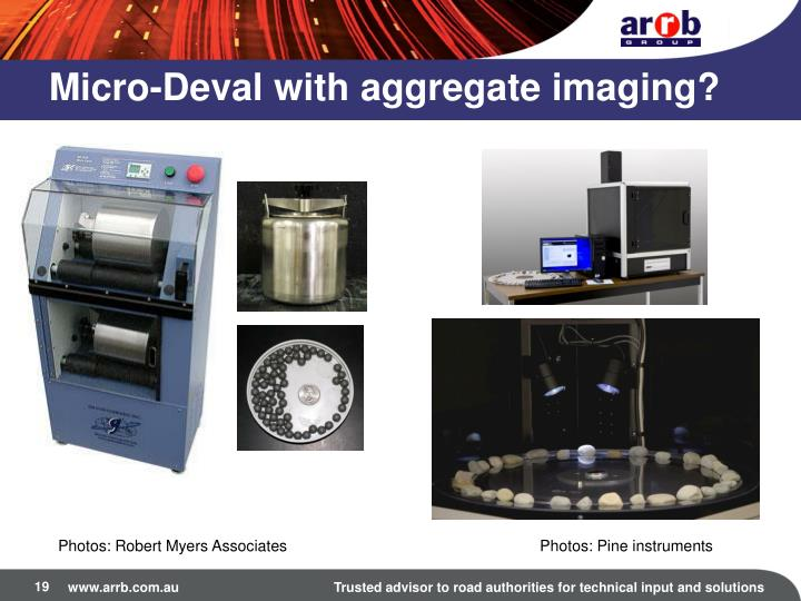Micro-Deval with aggregate imaging?