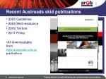 recent austroads skid publications
