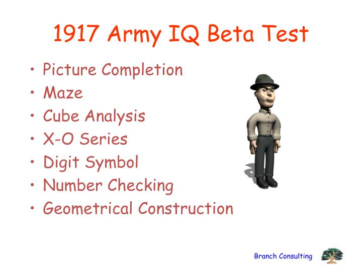1917 Army IQ Beta Test