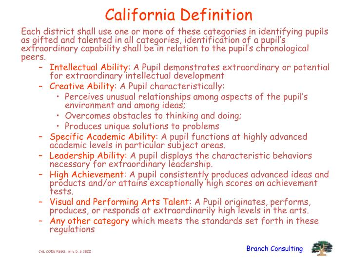 California Definition