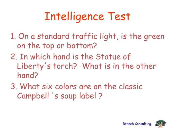 Intelligence Test