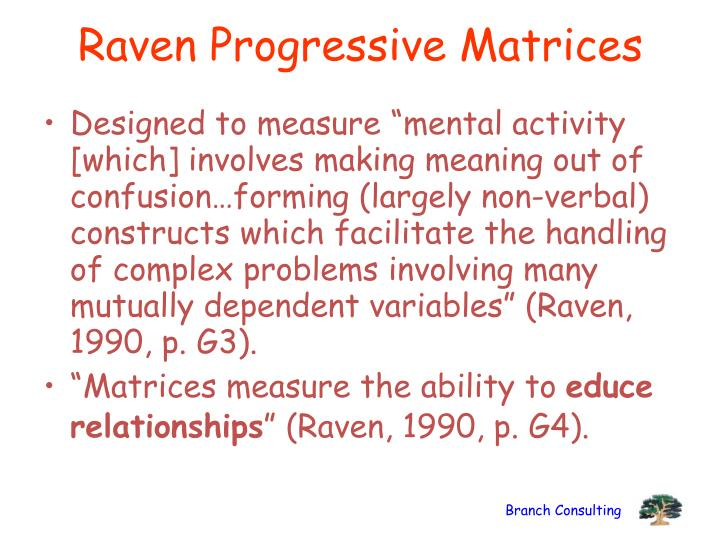 Raven Progressive Matrices