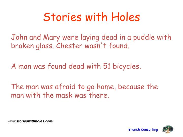 Stories with Holes