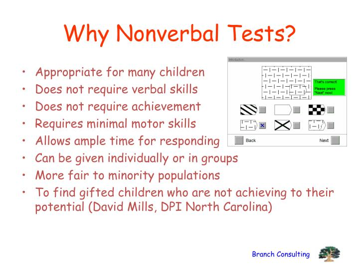Why Nonverbal Tests?