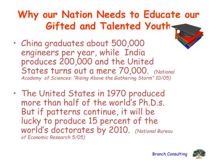 Why our Nation Needs to Educate our Gifted and Talented Youth