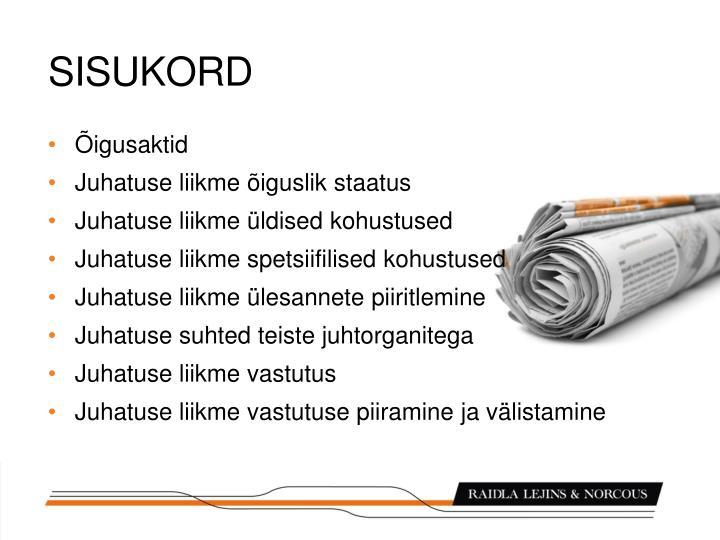 SISUKORD