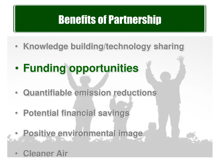 Benefits of Partnership
