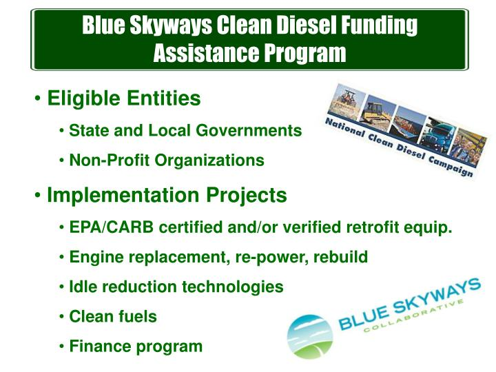Blue Skyways Clean Diesel Funding Assistance Program