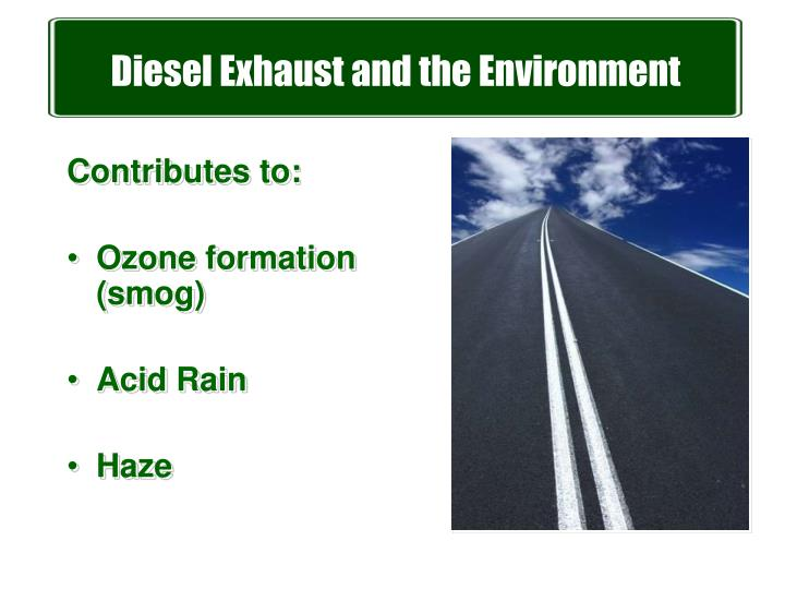 Diesel Exhaust and the Environment