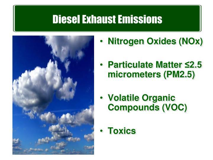 Diesel Exhaust Emissions