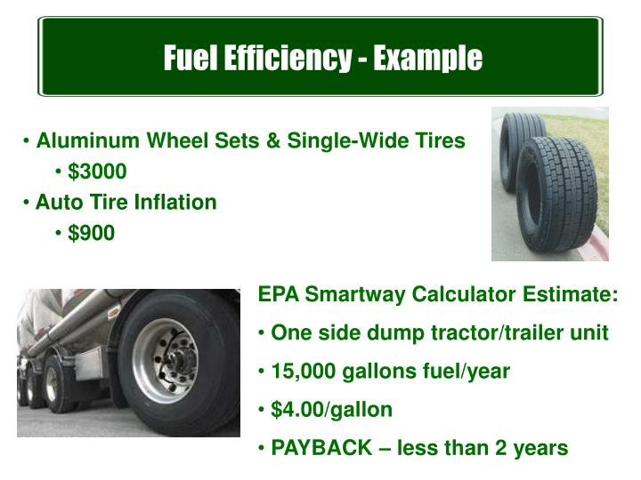 Fuel Efficiency - Example