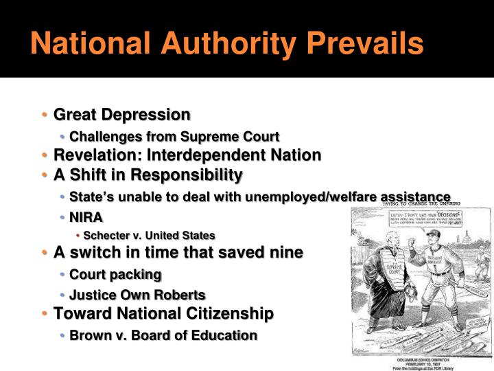 National Authority Prevails