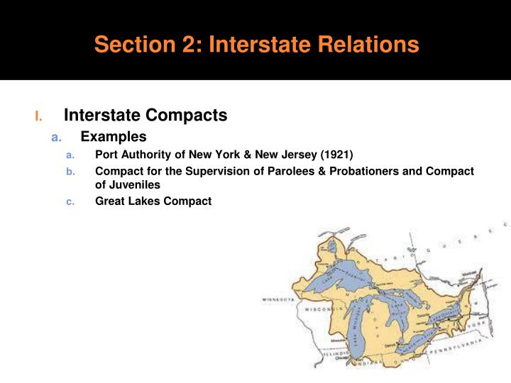 Section 2: Interstate Relations