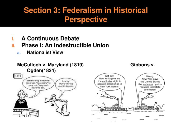 Section 3: Federalism in Historical Perspective
