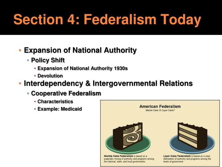 Section 4: Federalism Today
