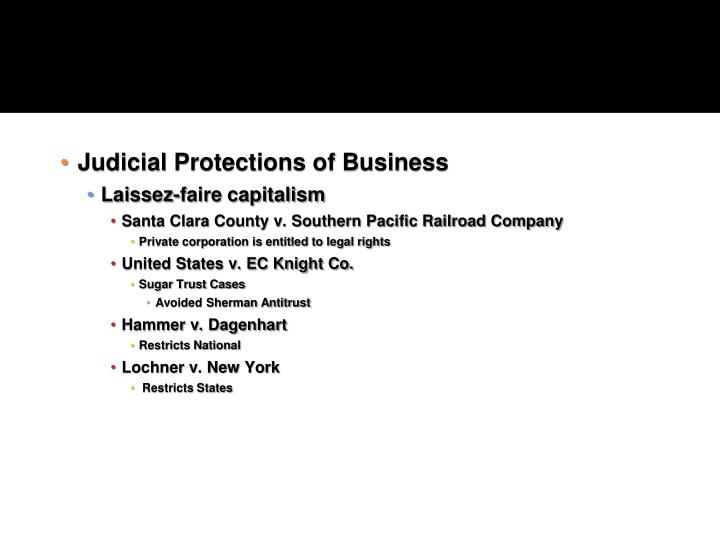 Judicial Protections of Business