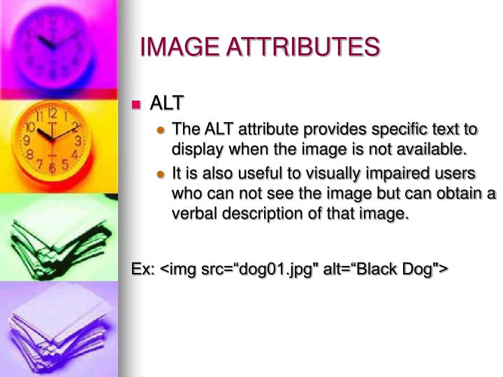 IMAGE ATTRIBUTES