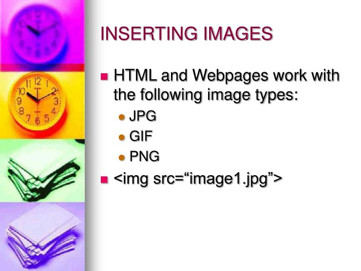 INSERTING IMAGES