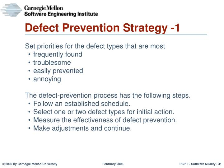 Defect Prevention Strategy -1