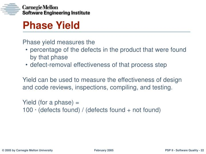 Phase Yield