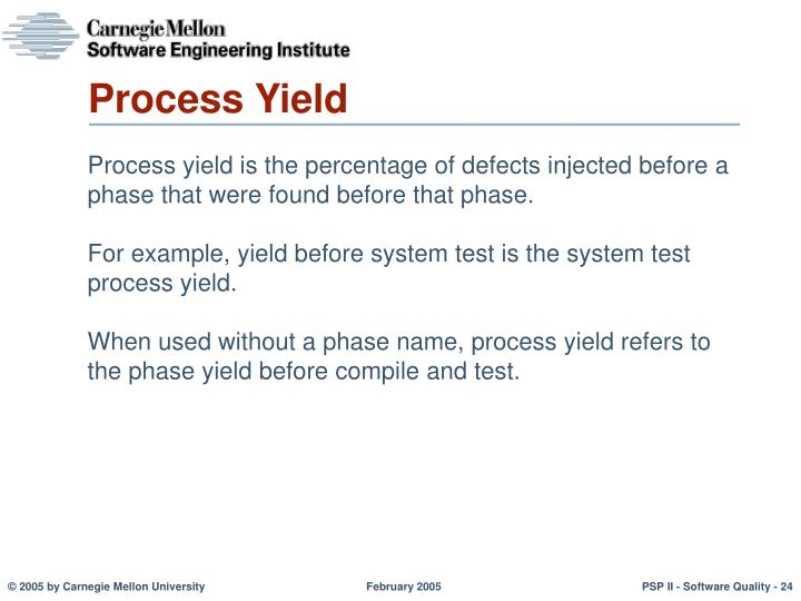 Process Yield