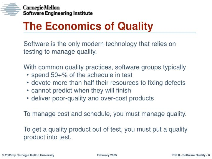 The Economics of Quality
