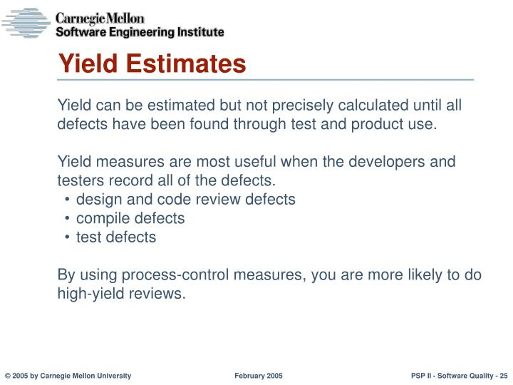 Yield Estimates