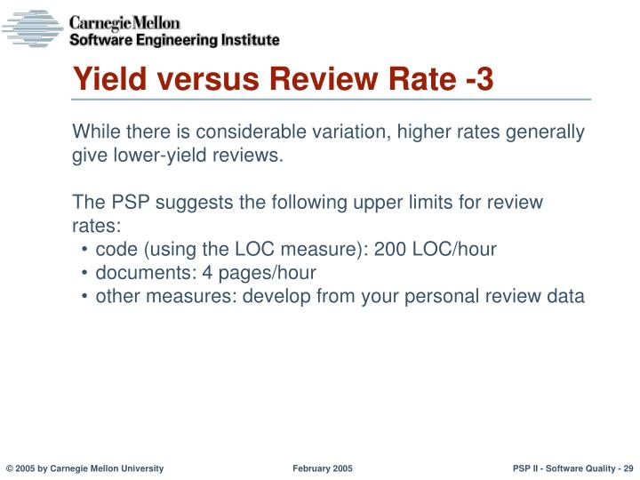 Yield versus Review Rate -3