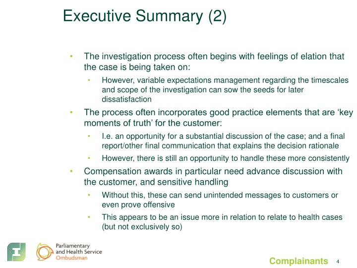 Executive Summary (2)