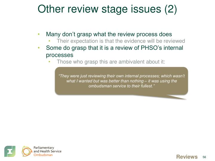 Other review stage issues (2)