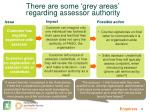 there are some grey areas regarding assessor authority