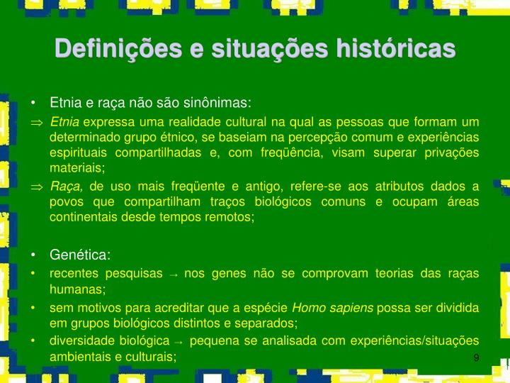 Definições e situações históricas
