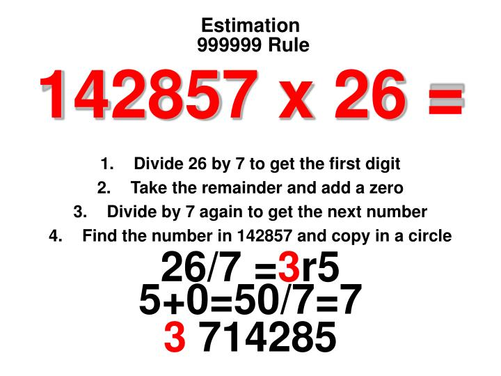 999999 Rule