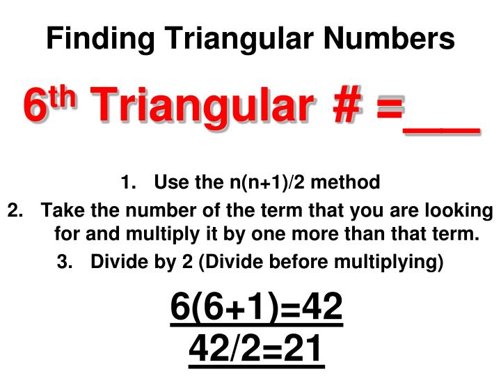 Finding Triangular Numbers