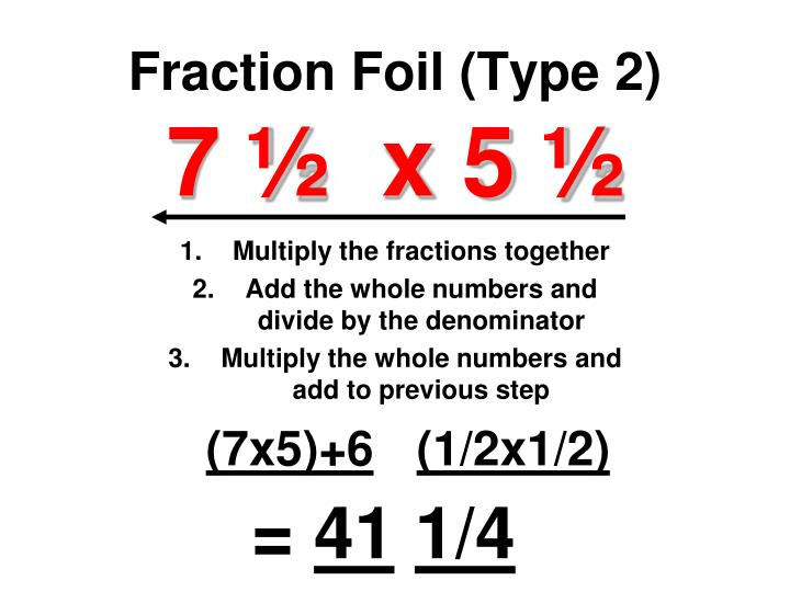 Fraction Foil (Type 2)