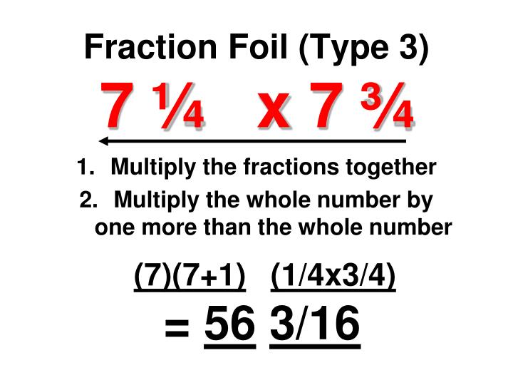 Fraction Foil (Type 3)