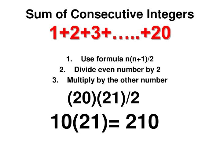 Sum of Consecutive Integers