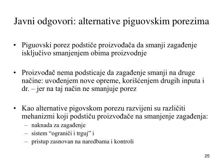 Javni odgovori: alternative piguovskim porezima