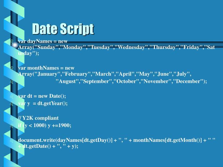 Date Script