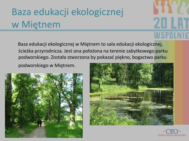 Baza edukacji ekologicznej