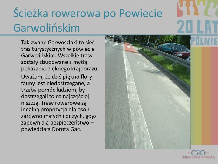 Ścieżka rowerowa po Powiecie Garwolińskim
