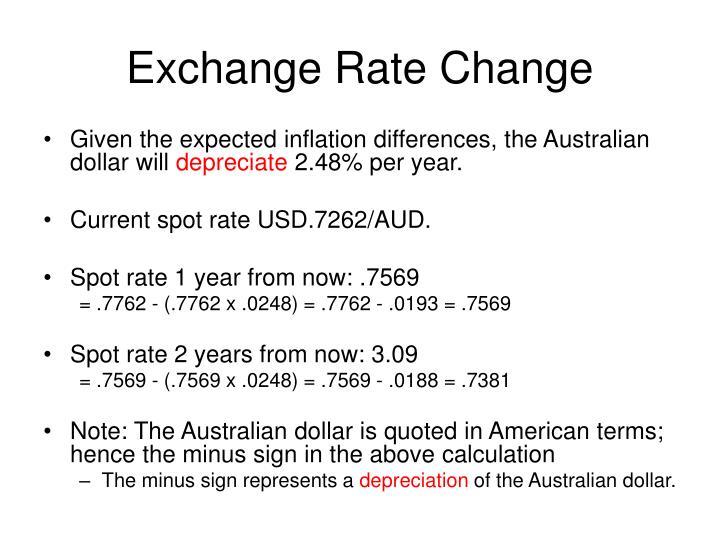 Exchange Rate Change