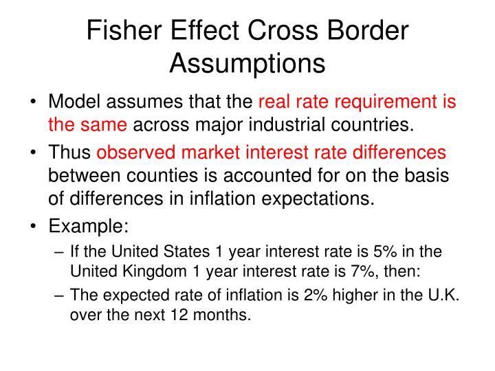 Fisher Effect Cross Border Assumptions