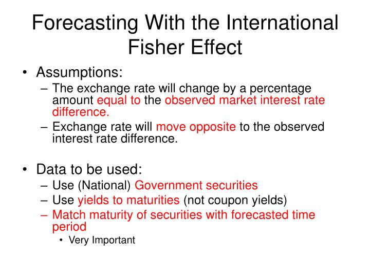 Forecasting With the International Fisher Effect