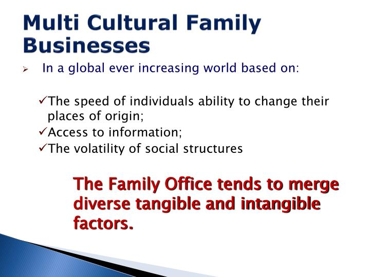 Multi Cultural Family Businesses