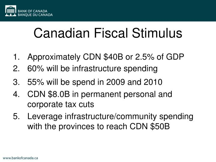 Canadian Fiscal Stimulus