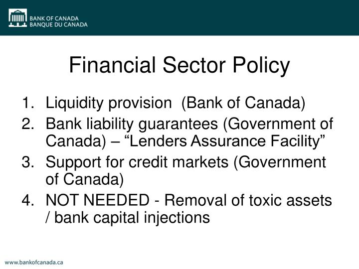 Financial Sector Policy