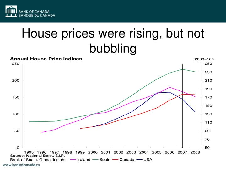 House prices were rising, but not bubbling